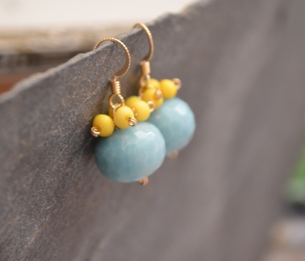 Yellow Umbrella Earrings / Meg Hannan Designs / www.meghannandesigns.com