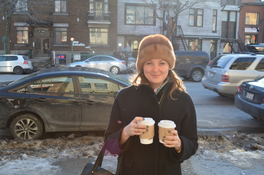 Kylie with Coffee / Photo by Meg Hannan