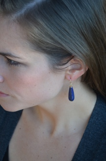 Boulevard Earrings - Lapis / Meg Hannan Designs / www.meghannandesigns.com