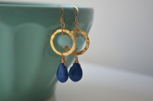 Blueberry Earrings / Meg Hannan Designs / www.meghannandesigns.com