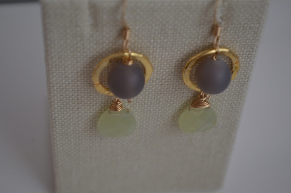 Kiwi Earrings / Meg Hannan Designs / www.meghannandesigns.com