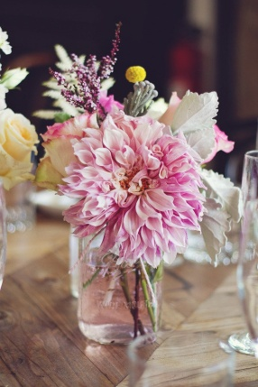 Hot Pink Dahlia - Style me Pretty