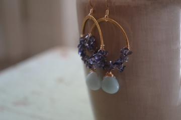 Morning Glory Earrings / Meg Hannan Designs / http://www.meghannandesigns.com