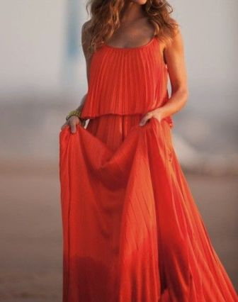 Orange Maxi Dress / http://southernpiphi.tumblr.com/