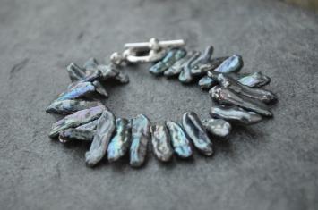 Peacock Bracelet / Meg Hannan Designs / www.meghannandesigns.com