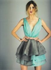 Turquoise and Grey Dress / http://crushculdesac.tumblr.com/#12