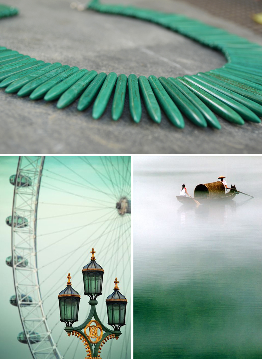 Emerald-Collage---London Eye Necklace, www.covetingcolor.com