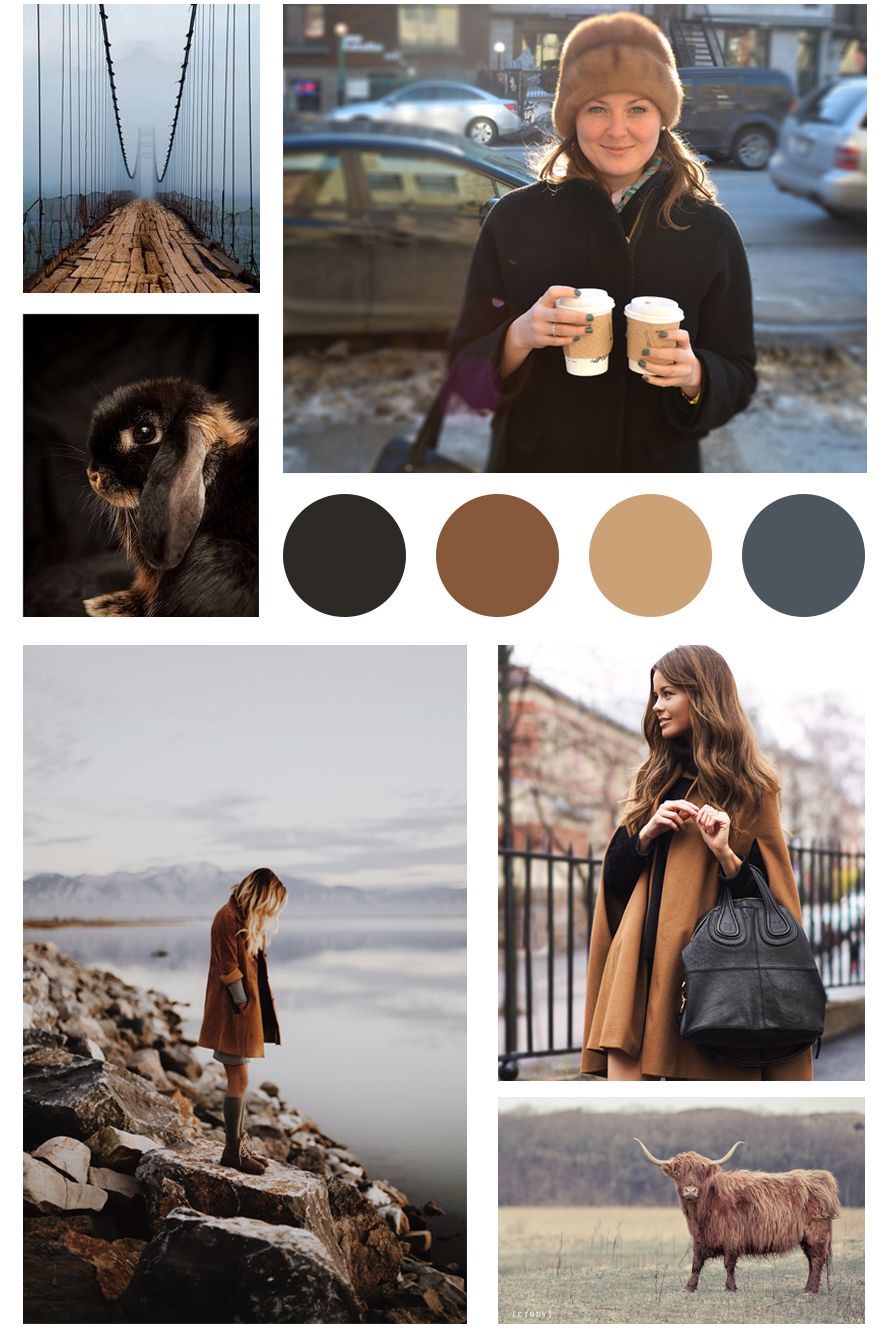 Brown and Black / Covetingcolor.com